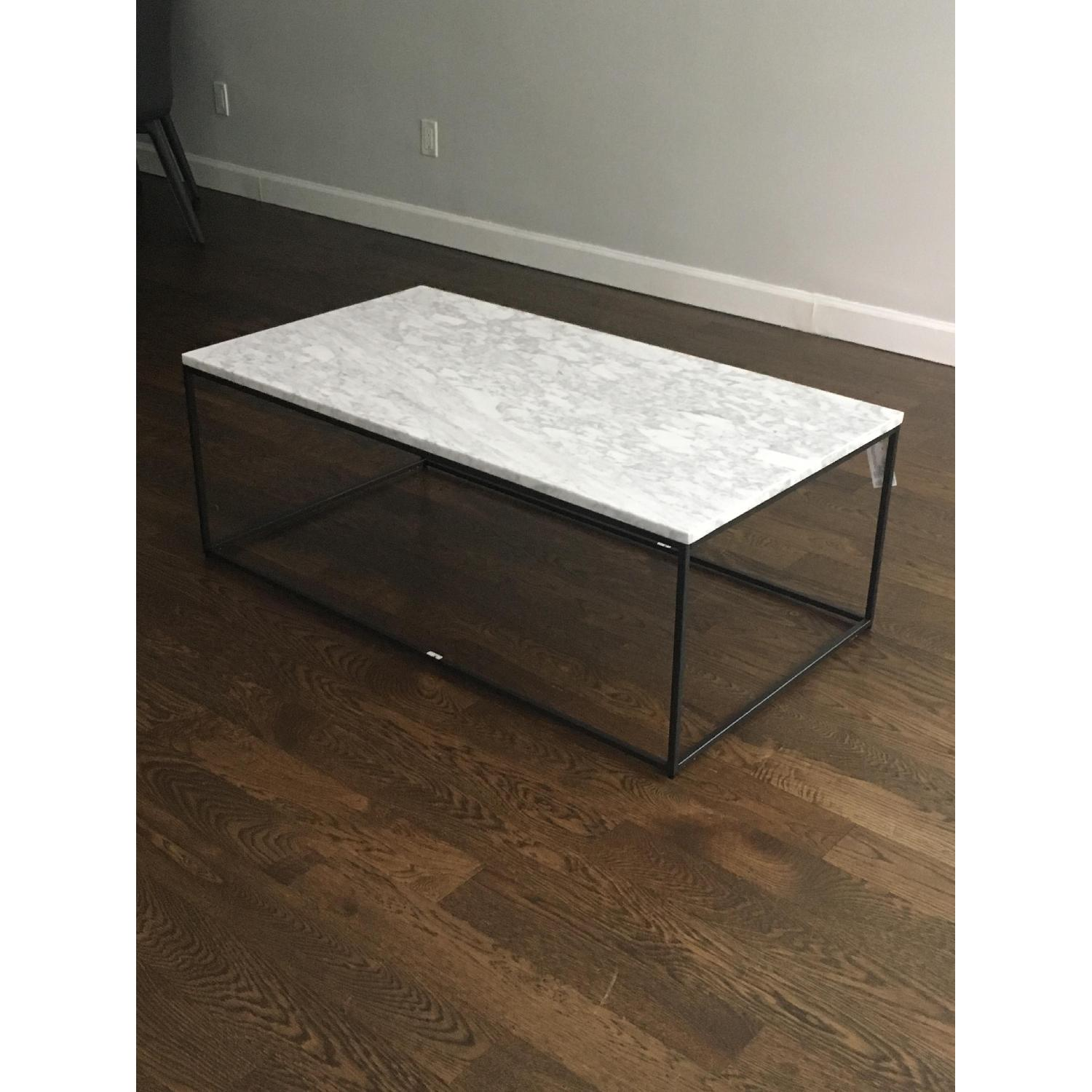 Super West Elm Streamline Coffee Table In White Marble Aptdeco Caraccident5 Cool Chair Designs And Ideas Caraccident5Info