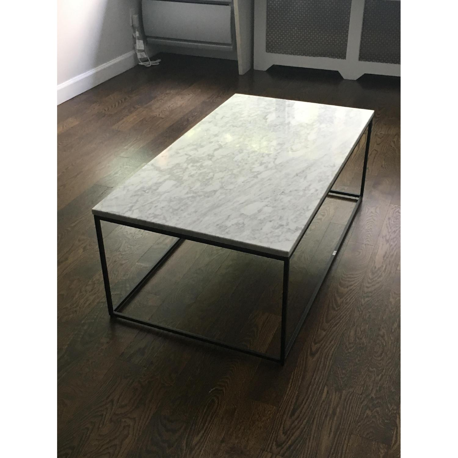 Awesome West Elm Streamline Coffee Table In White Marble Aptdeco Caraccident5 Cool Chair Designs And Ideas Caraccident5Info