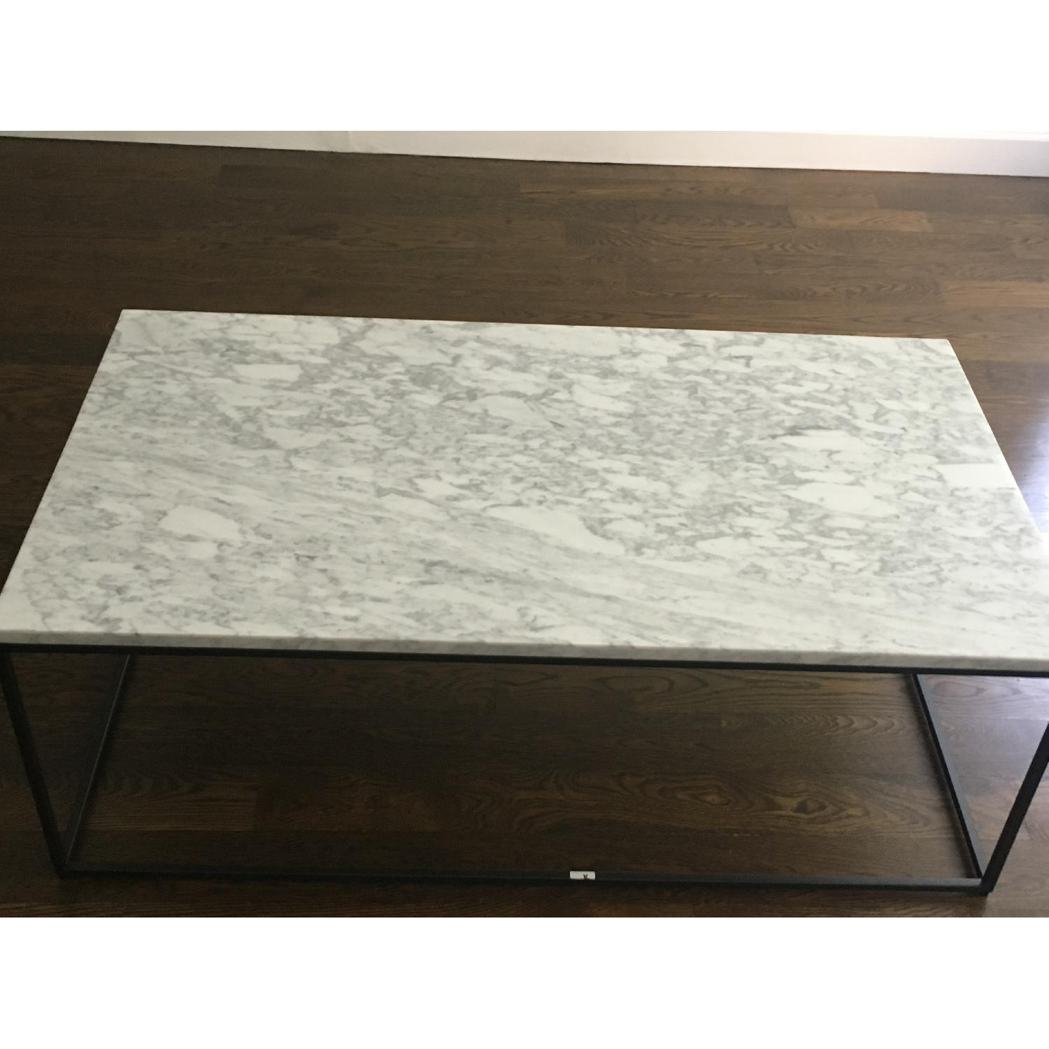 Prime West Elm Streamline Coffee Table In White Marble Aptdeco Caraccident5 Cool Chair Designs And Ideas Caraccident5Info