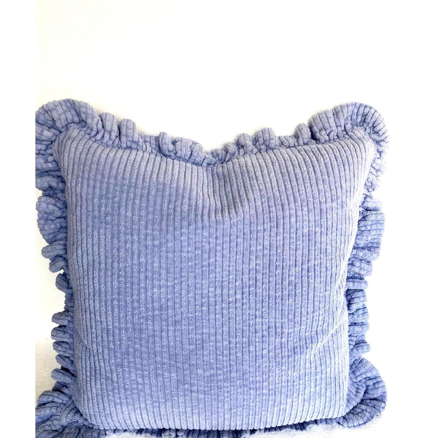 Vintage Handmade Chenille Wide Wale Pillows