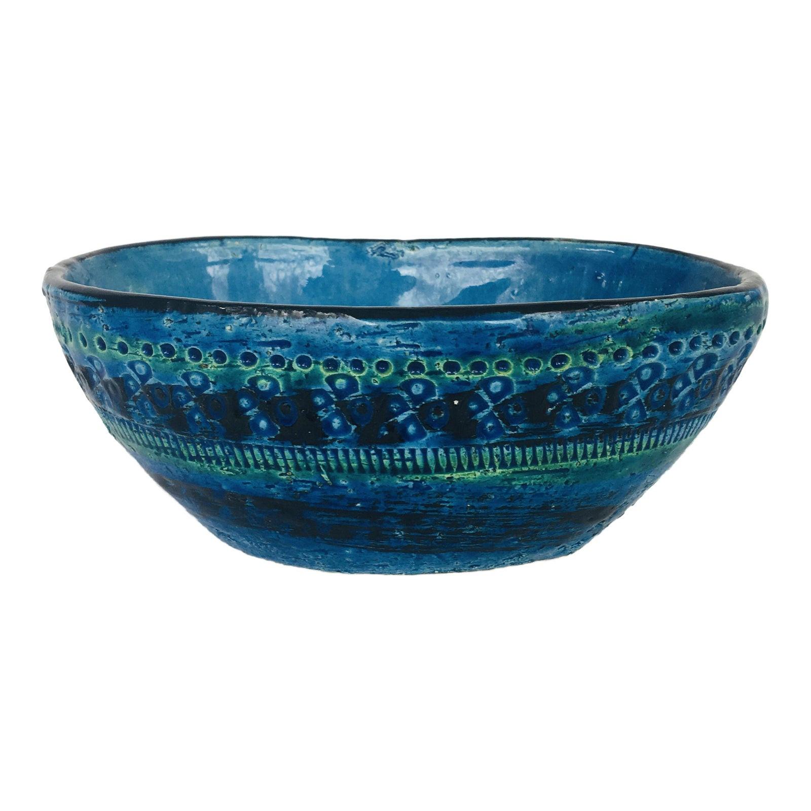 Aldo Londi for Bitossi Rimini Blue Ceramic Bowl