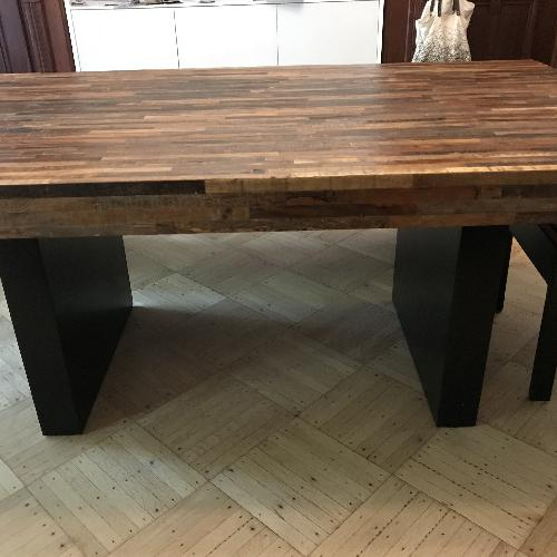Environment Furniture Reclaimed Wood 5 Piece Dining Set