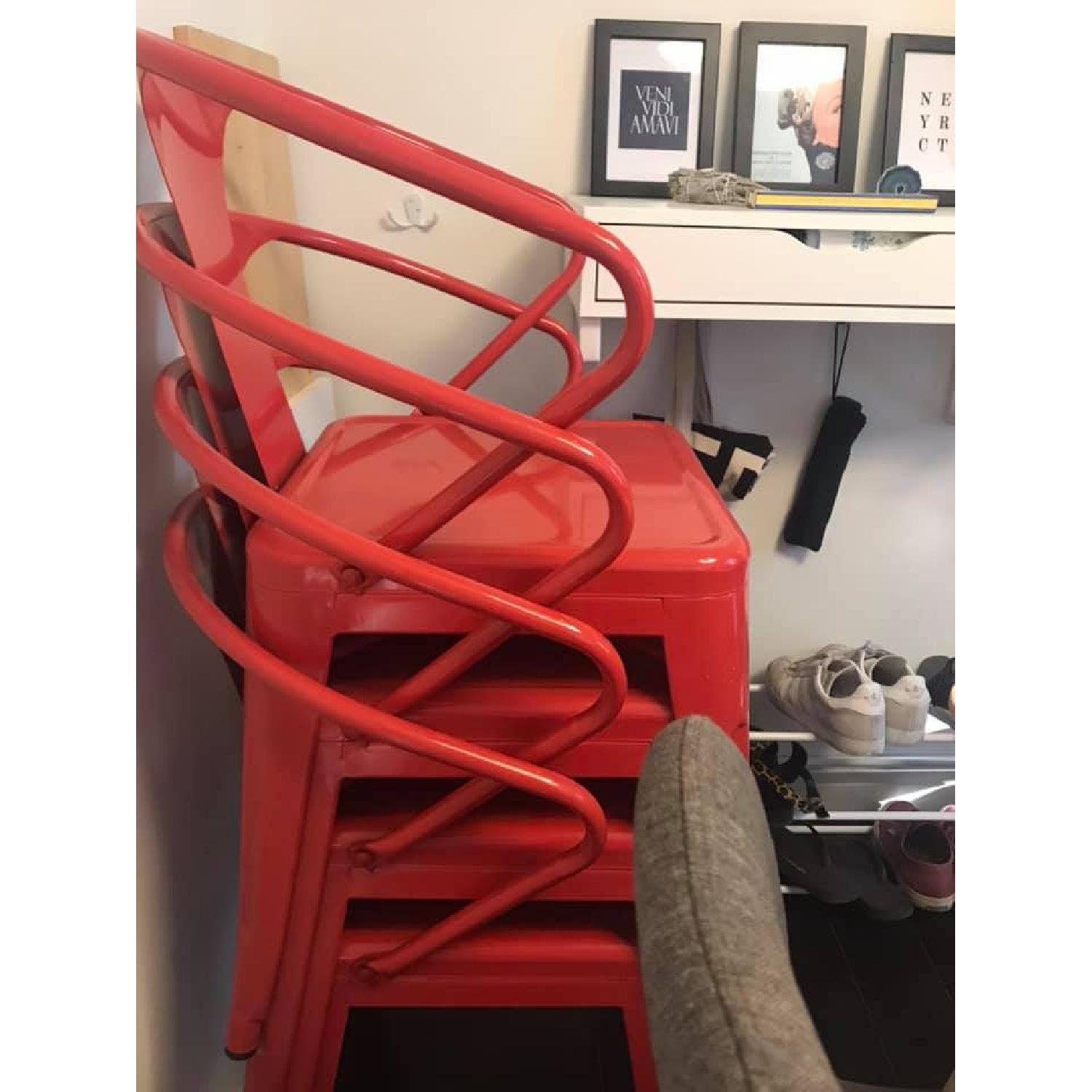 Red Stacking Chairs - image-1