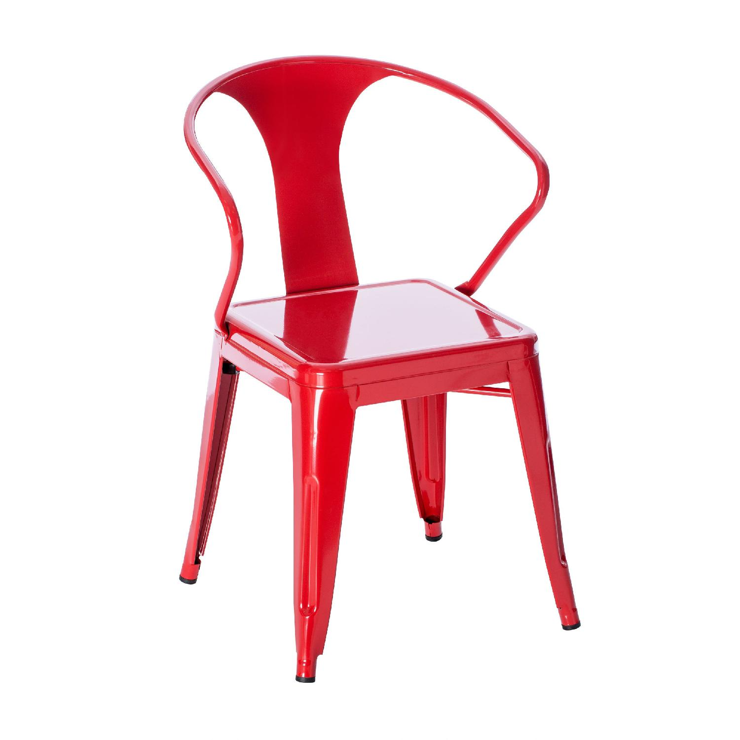 Red Stacking Chairs - image-0
