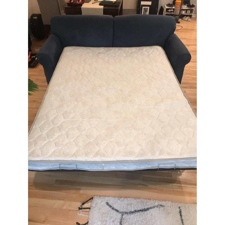 Navy Blue Sleeper Sofa Aptdeco