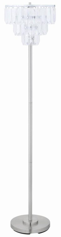 Floor Lamp w/ Chrome Stand & Crystal Shade