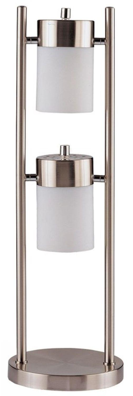 Modern 2-Head Table Lamp w/ Adjustable Horizontal Swivel