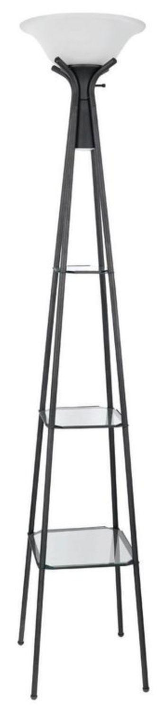 Floor Lamp w/ 3-Tier Display Shelf