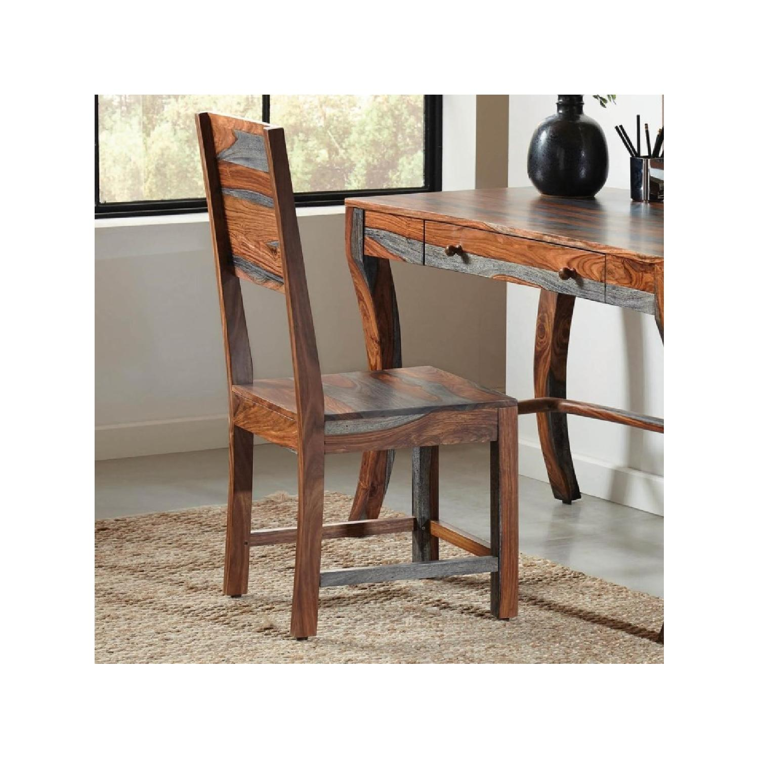 Artistic Grey Sheesham Desk Chair - image-3