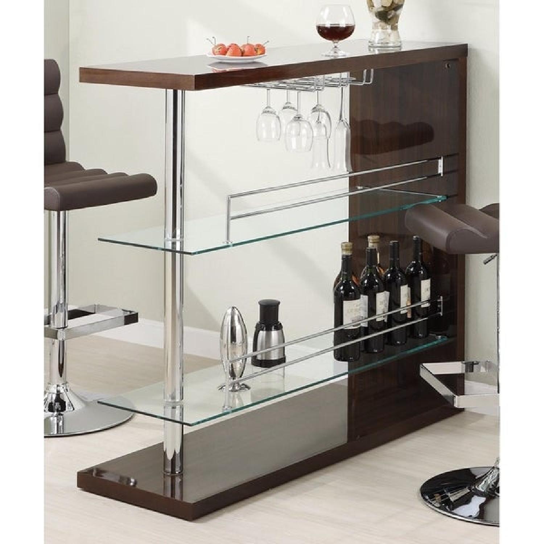 Bar Table w/ 2 Shelves - image-5