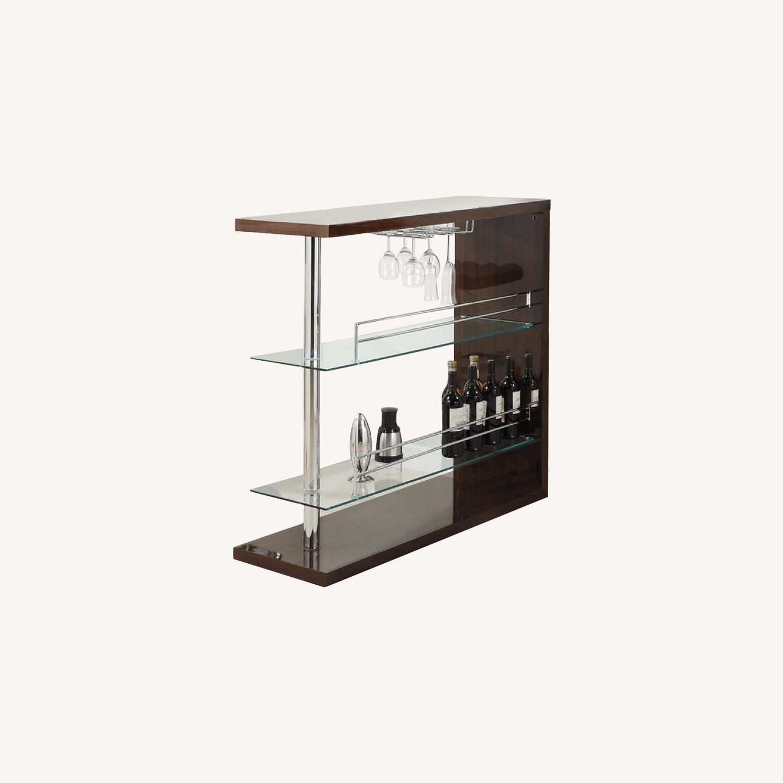Bar Table w/ 2 Shelves - image-0