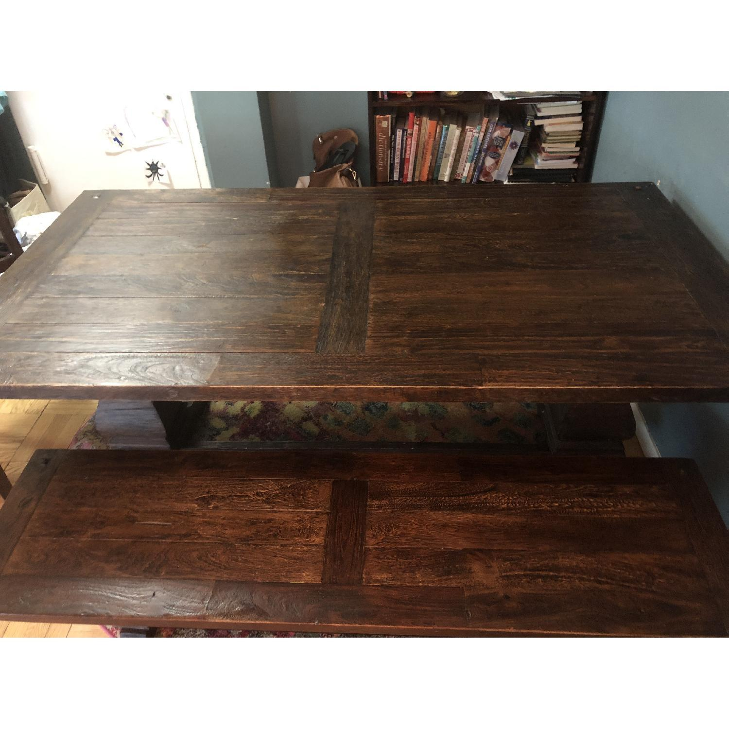Tristan Wood Dining Table w/ 1 Bench & 4 Chairs - image-2