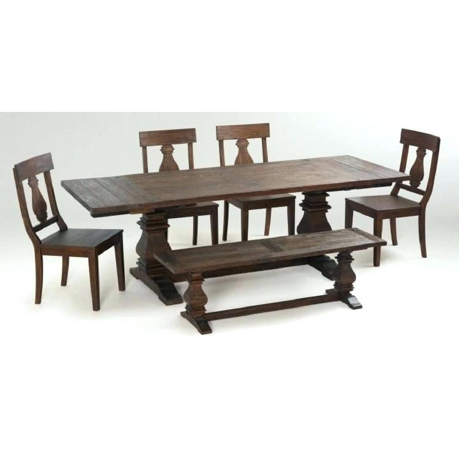 Tristan Wood Dining Table w/ 1 Bench & 4 Chairs - image-5
