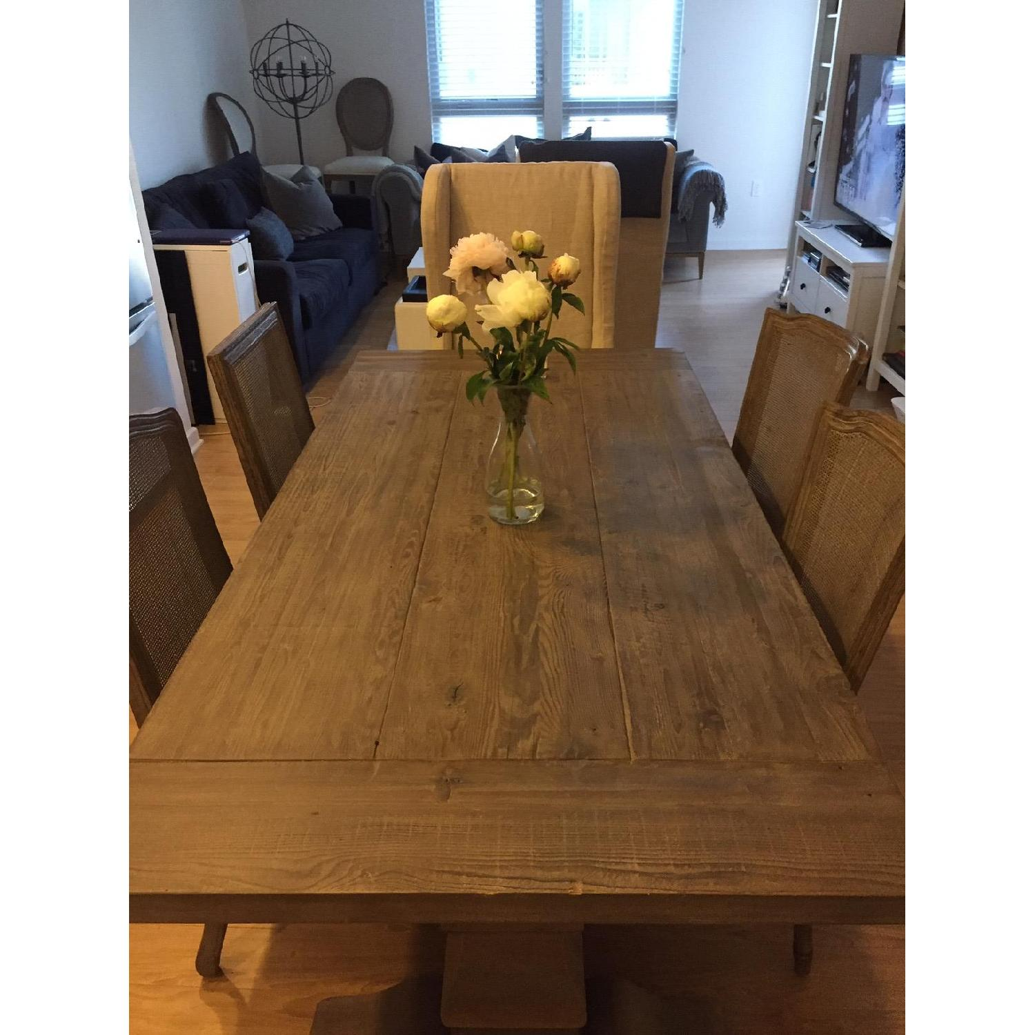 Restoration Hardware Salvaged Wood Dining Table w/ 4 Chairs - image-1