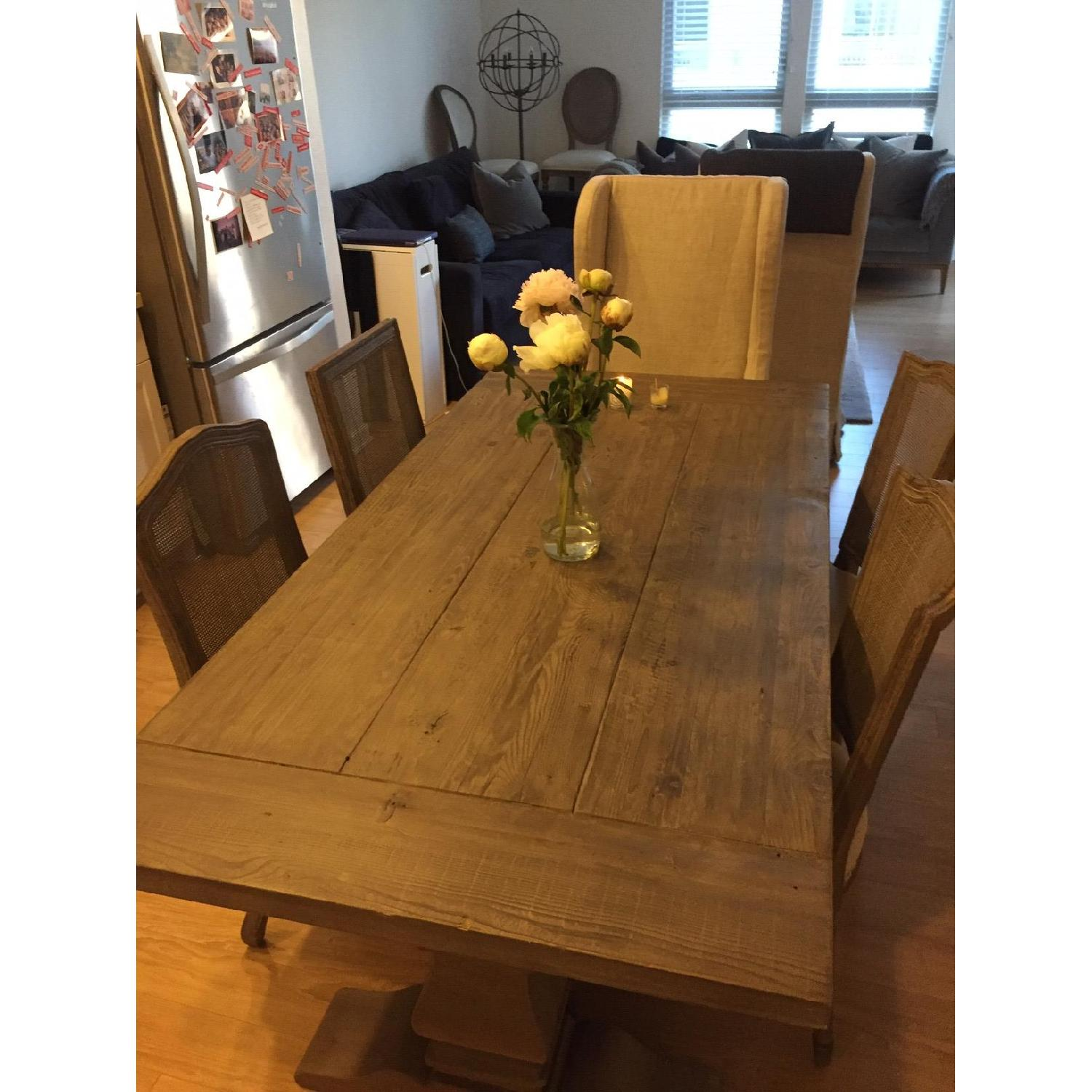 Restoration Hardware Salvaged Wood Dining Table w/ 4 Chairs - image-0
