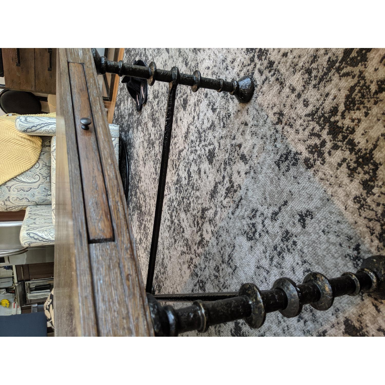 Bassett Rustic Cast Iron Coffee Table - image-3