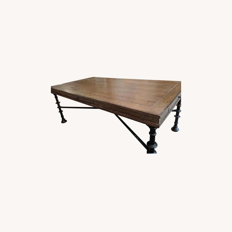 Bassett Rustic Cast Iron Coffee Table - image-0