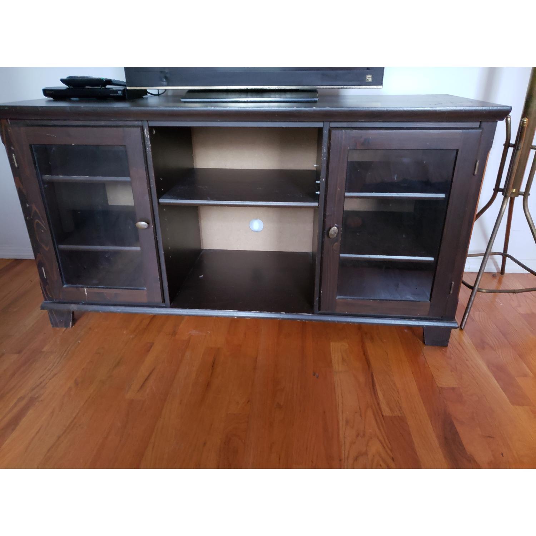 Vintage Wood TV Stand - image-2