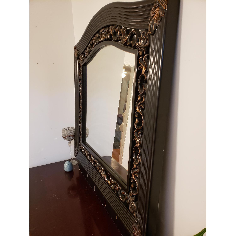 Vintage Mirror w/ Custom Wood Work - image-2