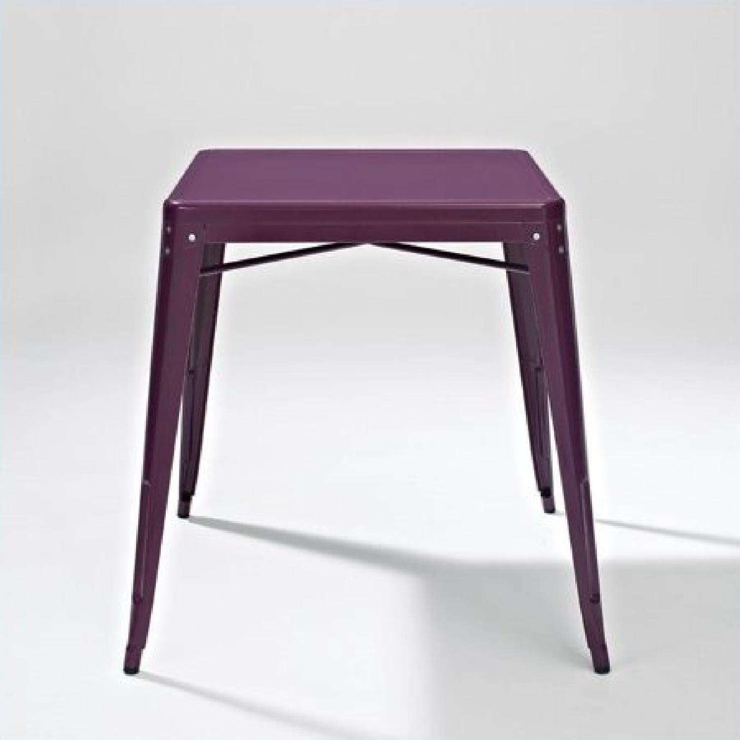 Crosley Metal Cafe Table in Purple - image-1