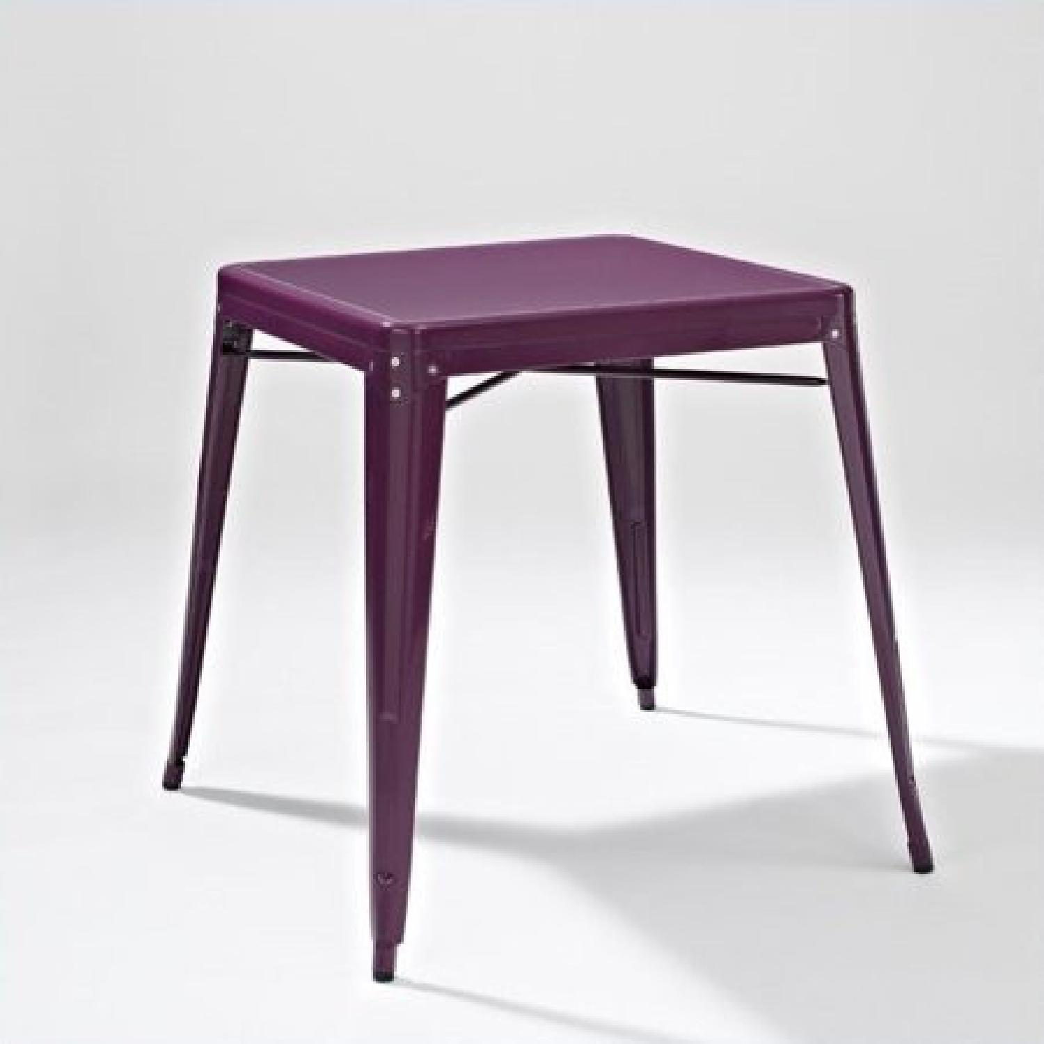 Crosley Metal Cafe Table in Purple - image-2