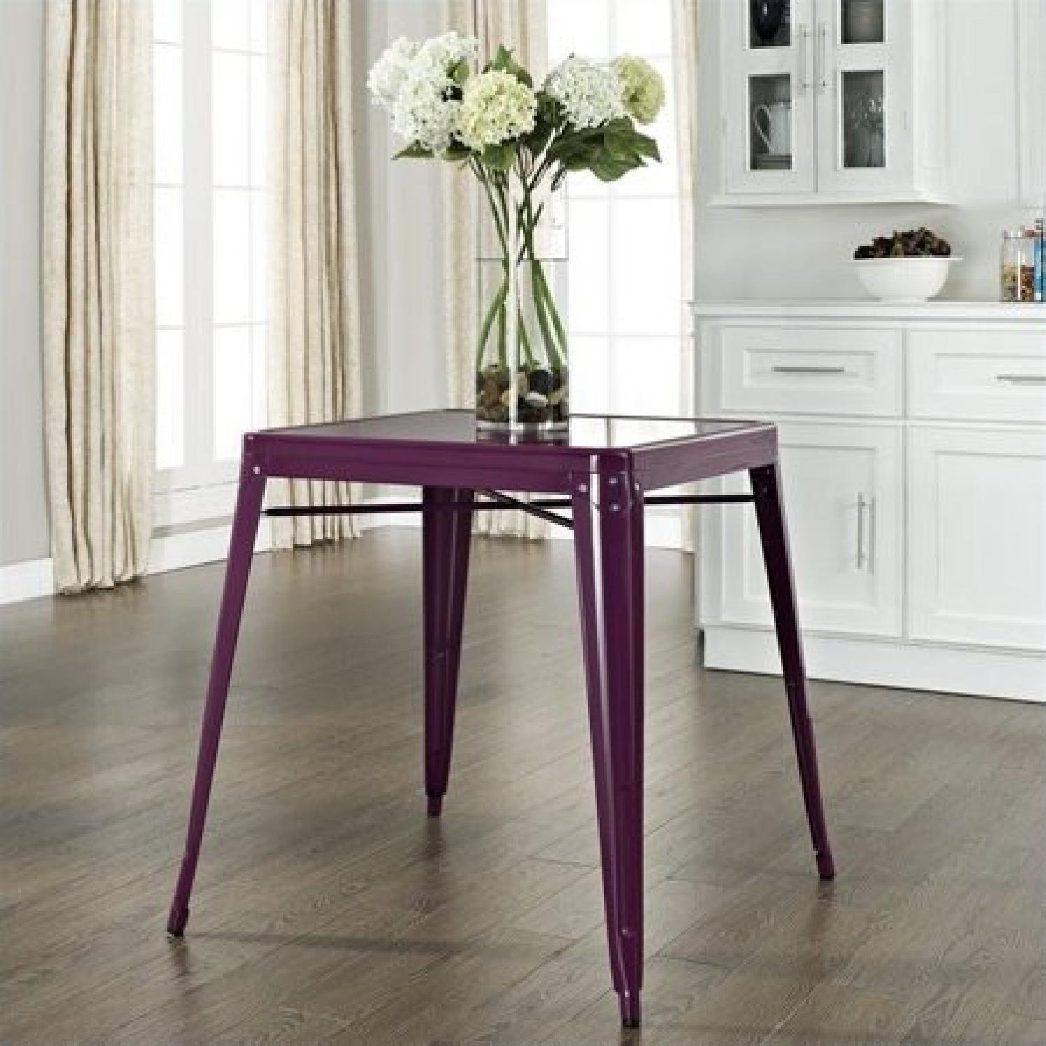 Crosley Metal Cafe Table in Purple - image-3