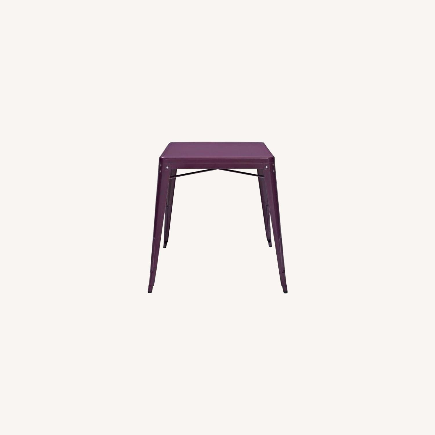 Crosley Metal Cafe Table in Purple - image-0