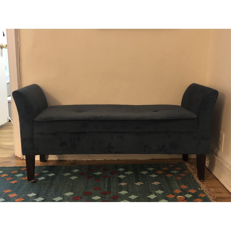 Target Midnight Blue Upholstered Bench - image-1
