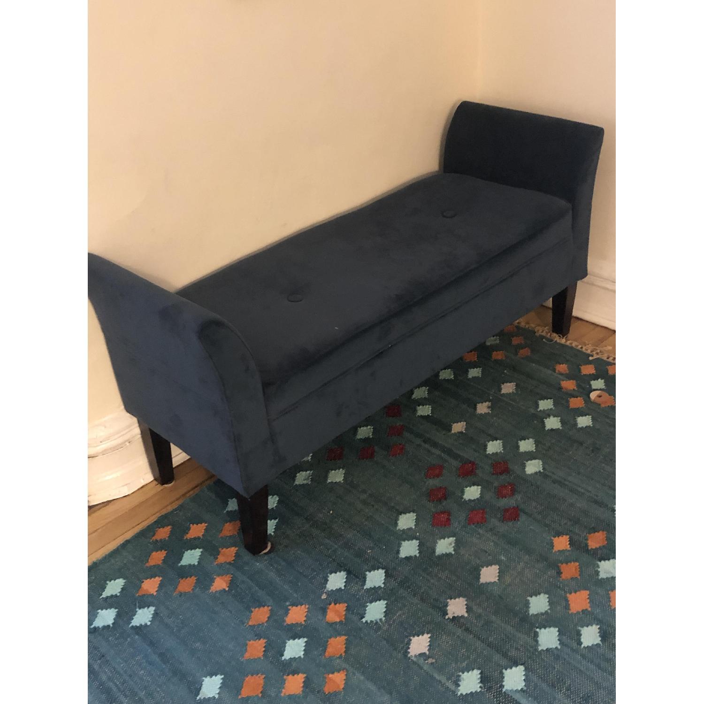 Target Midnight Blue Upholstered Bench - image-2