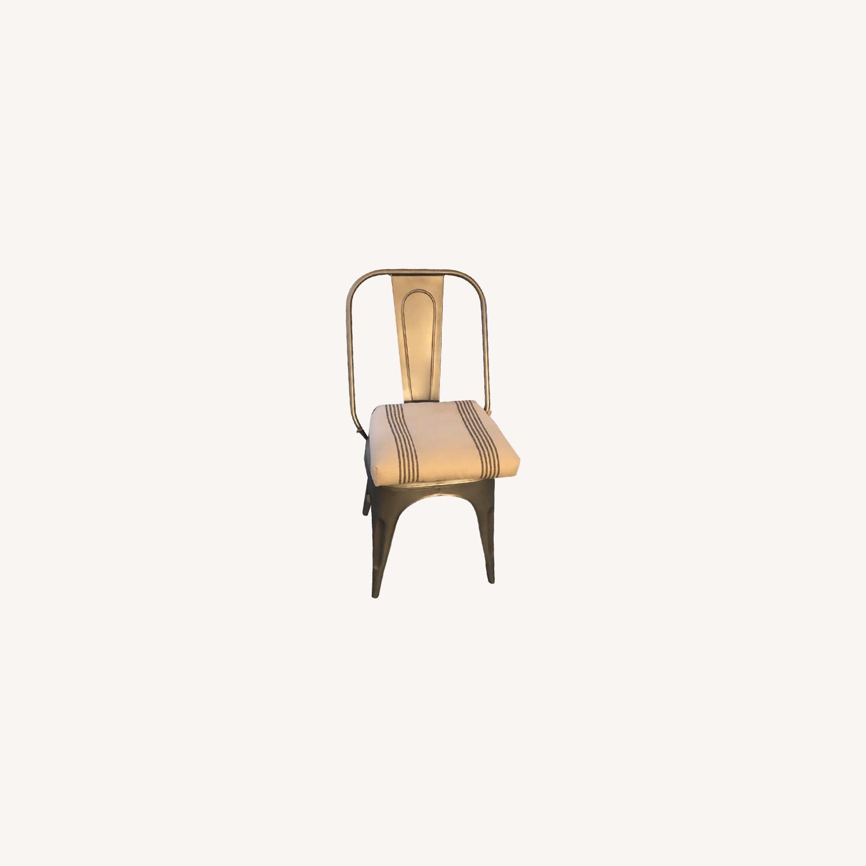 Restoration Hardware Gunmetal Remy Side Chair