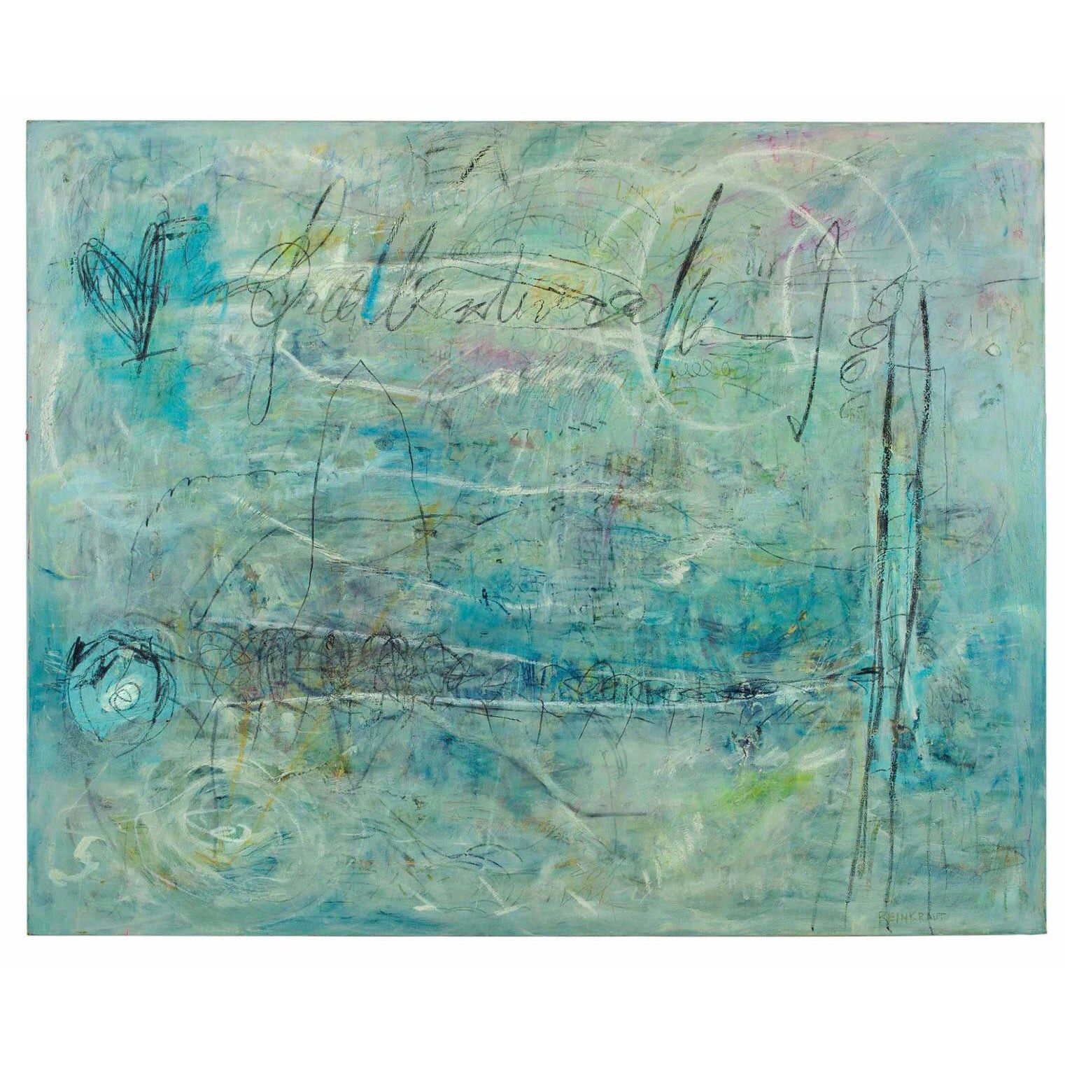 Ellen Reinkraut Large Painting - The Laws of Attraction