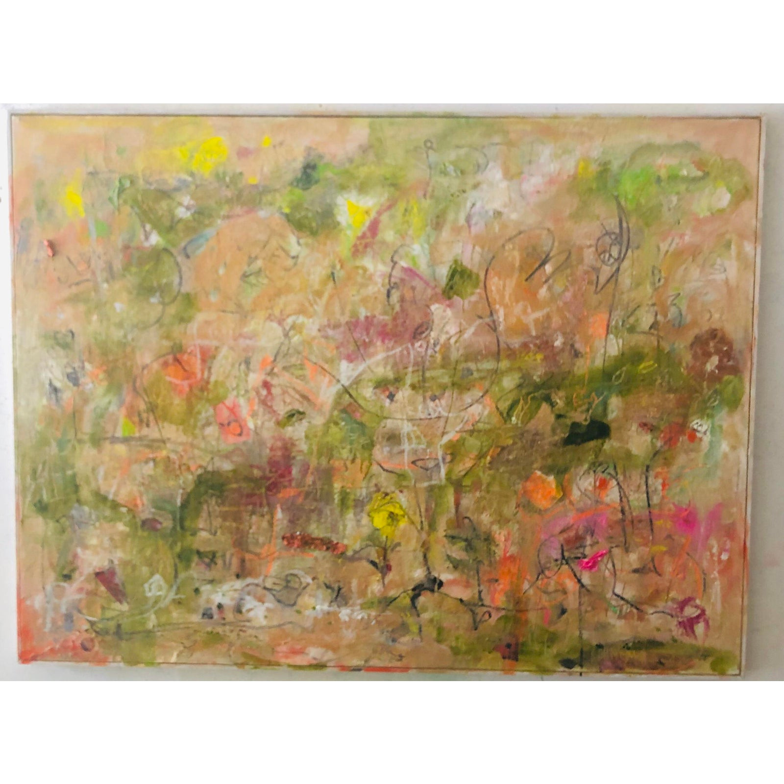 Mothers Garden Abstract Expressionist Landscape