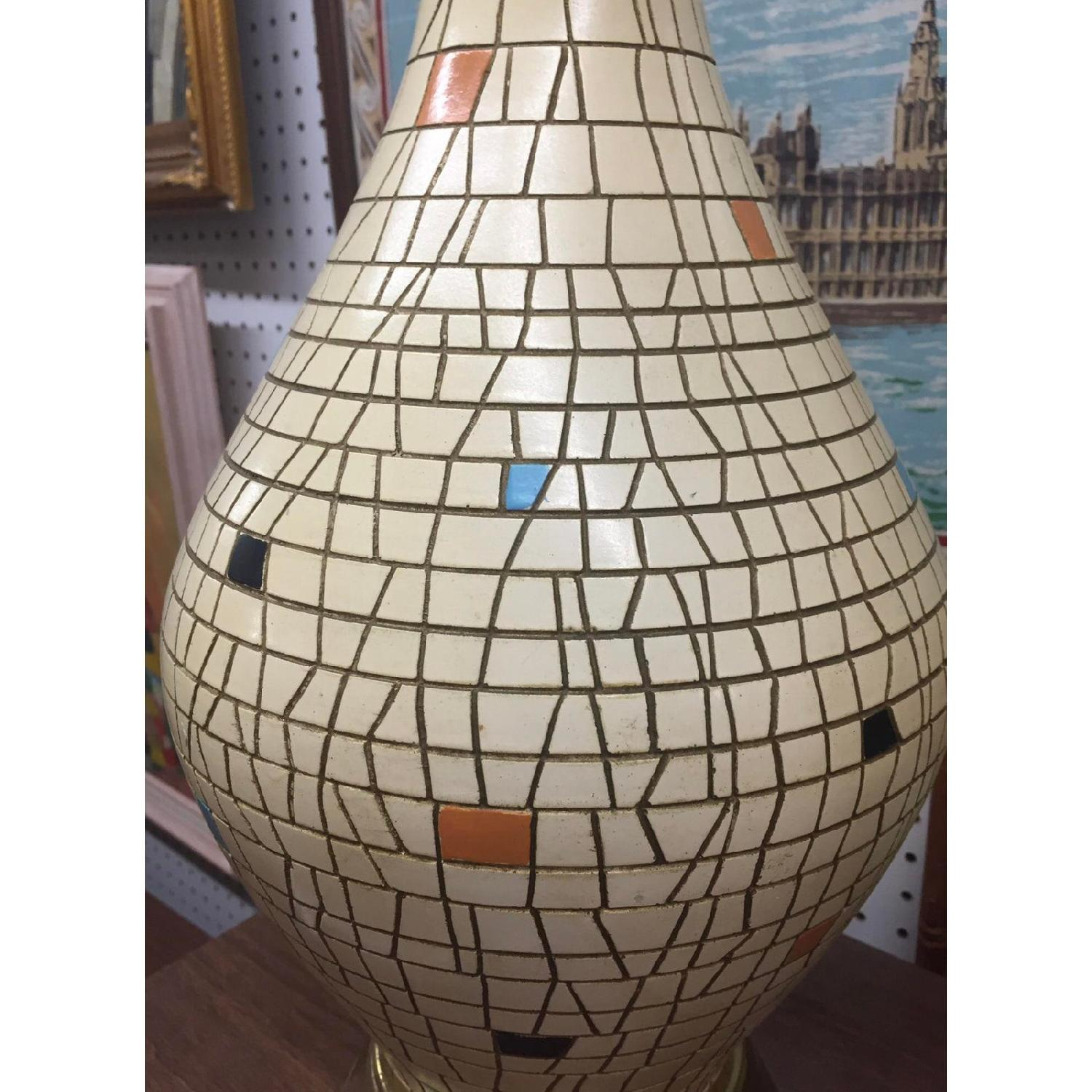 Bitossi Inspired Large Mosaic Table Lamps - image-5