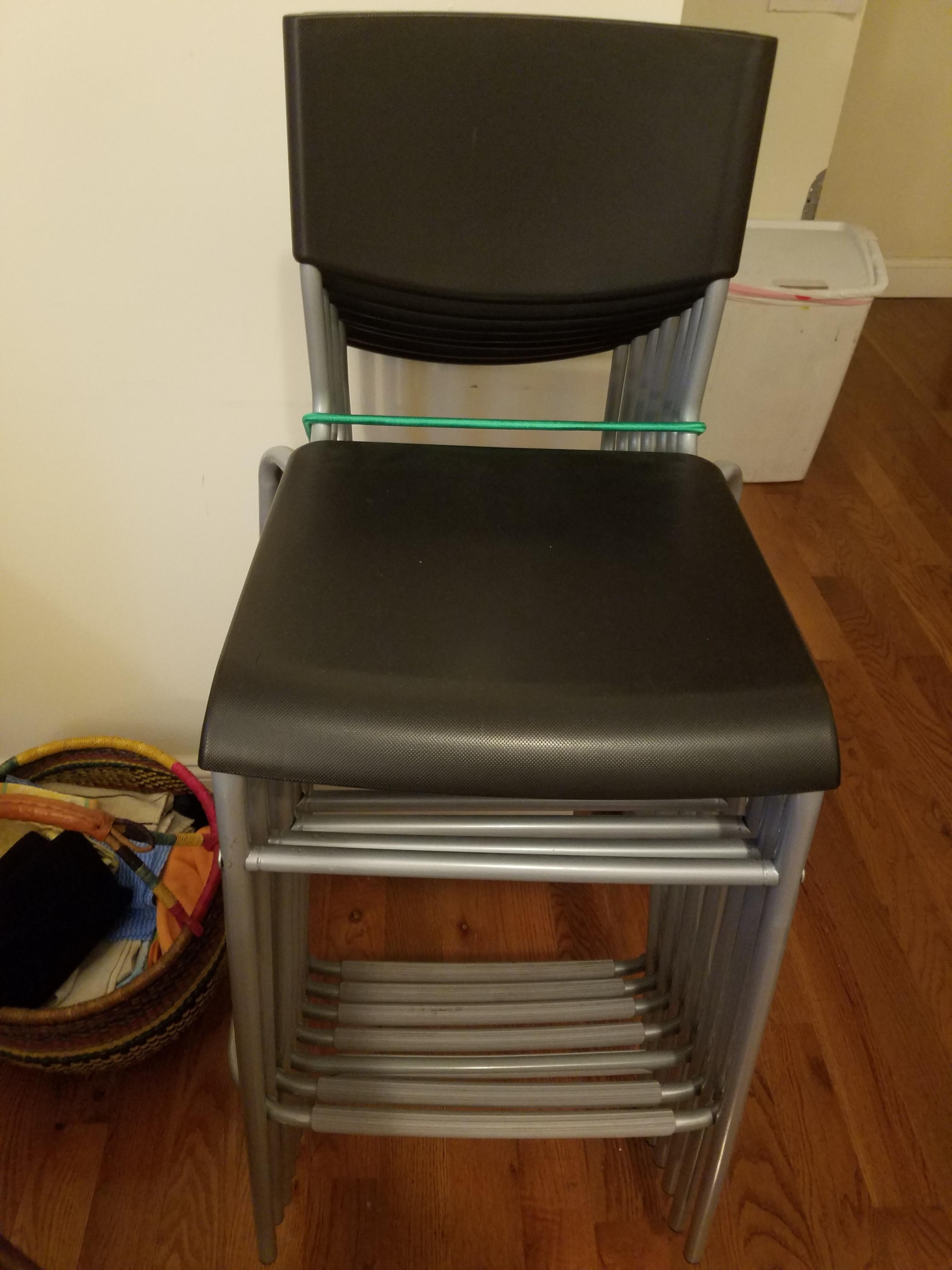 Terrific Ikea Grey Stackable Stools Aptdeco Uwap Interior Chair Design Uwaporg