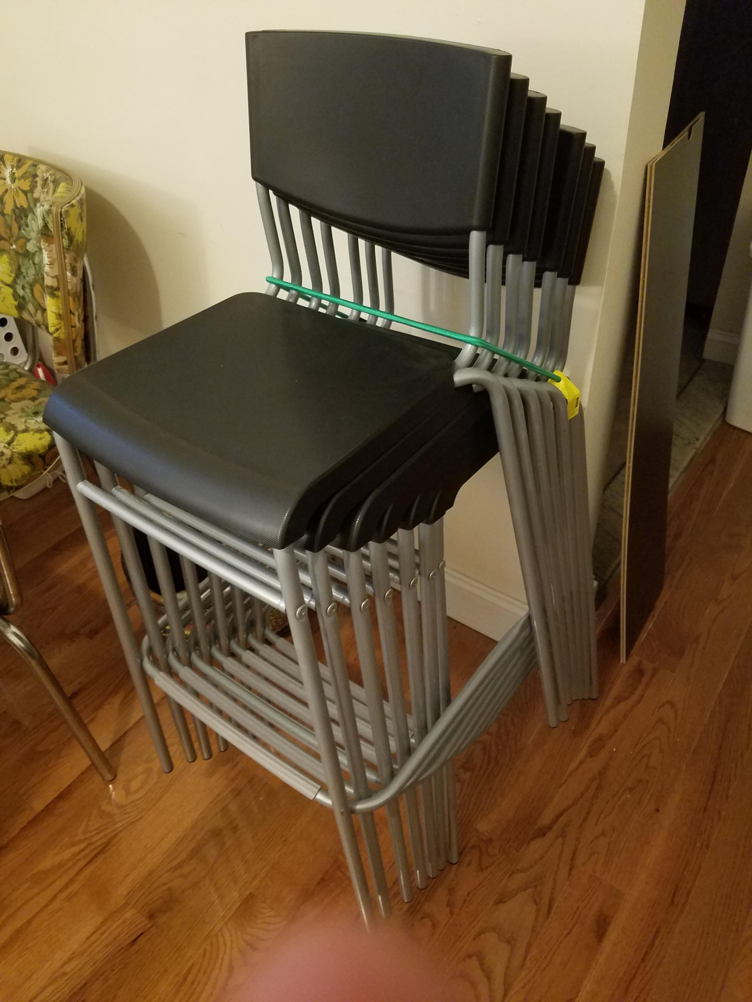 Magnificent Ikea Grey Stackable Stools Aptdeco Uwap Interior Chair Design Uwaporg