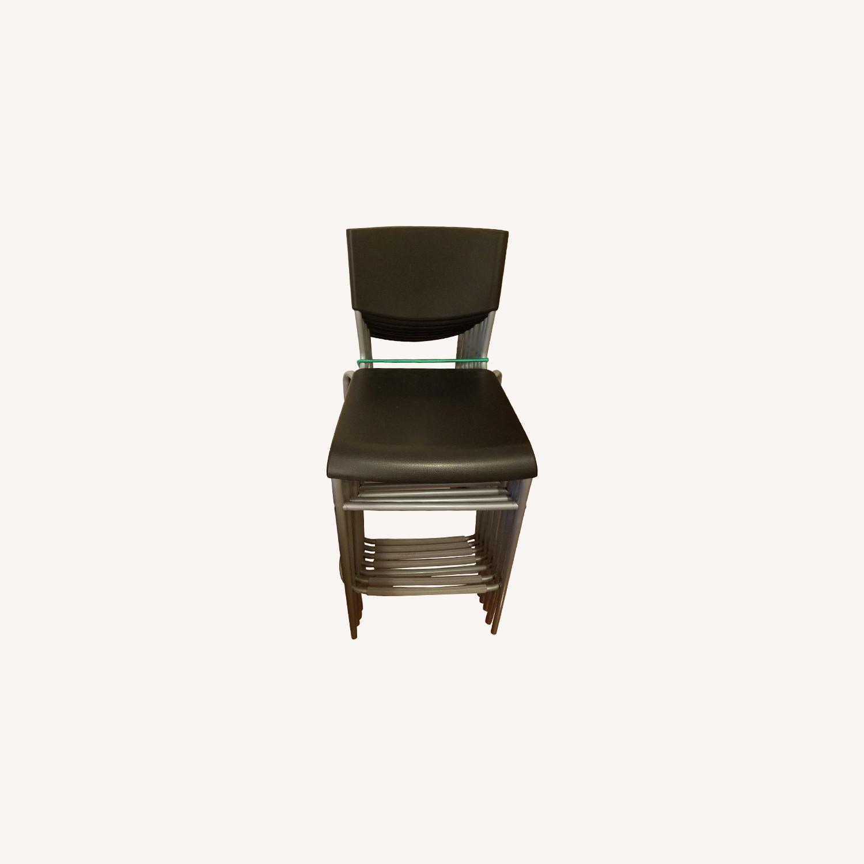 Cool Ikea Grey Stackable Stools Aptdeco Uwap Interior Chair Design Uwaporg