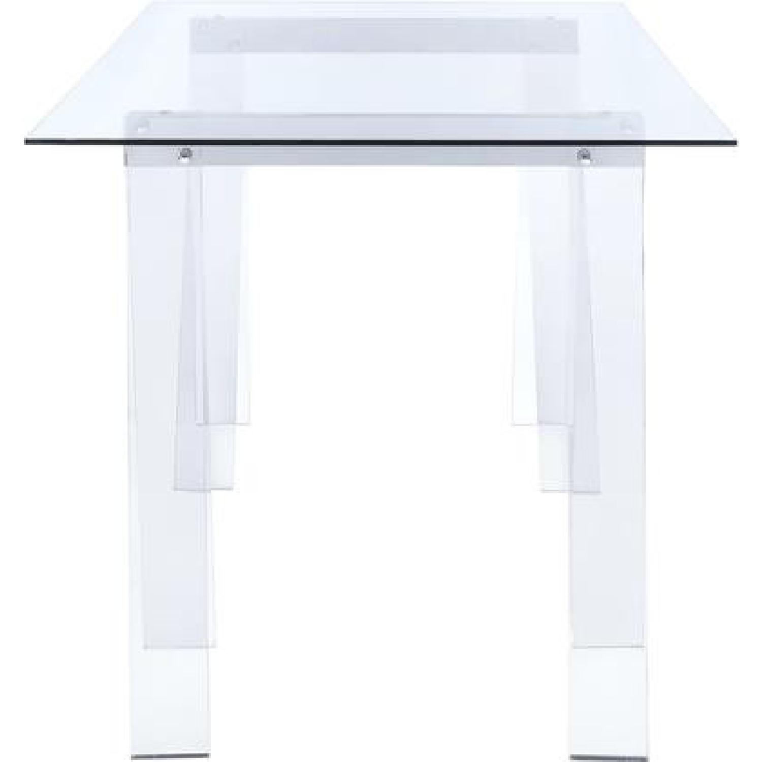 Clear Acrylic Writing Desk - image-2