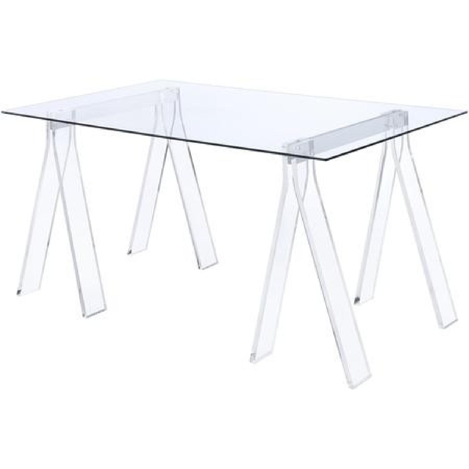 Clear Acrylic Writing Desk - image-1