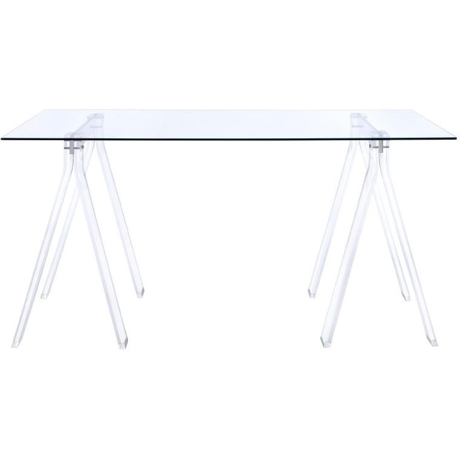 Clear Acrylic Writing Desk - image-0