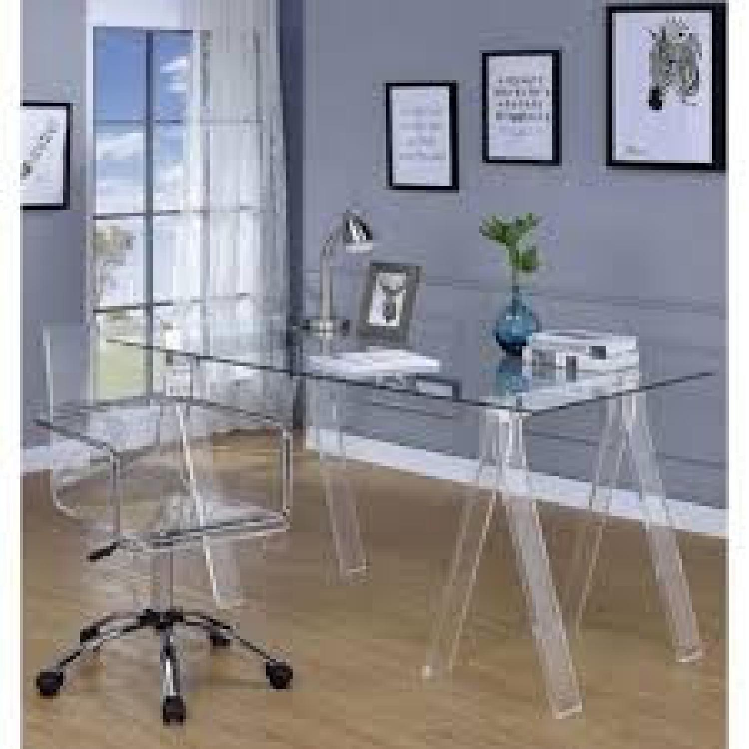 Clear Acrylic Writing Desk - image-3