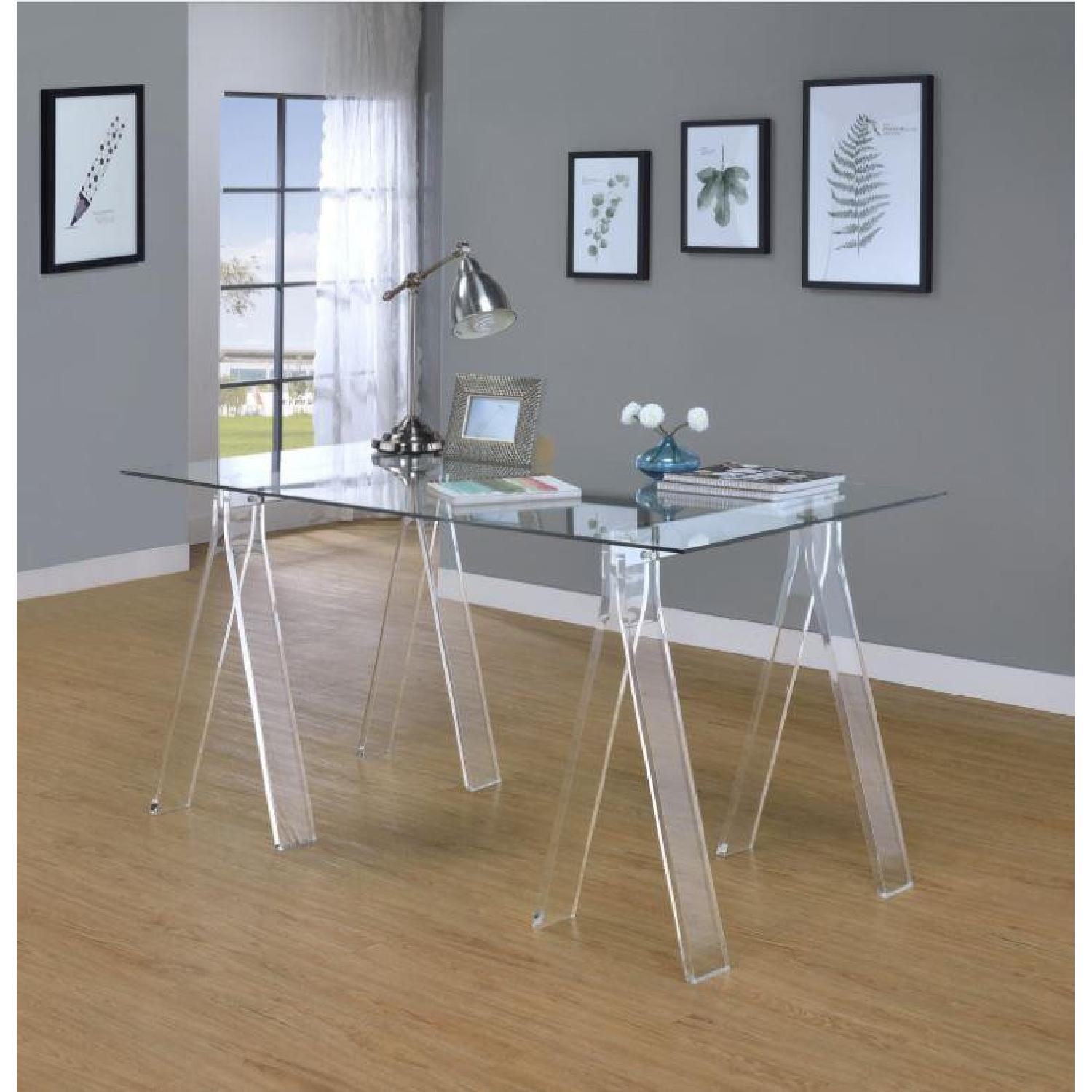 Clear Acrylic Writing Desk - image-4