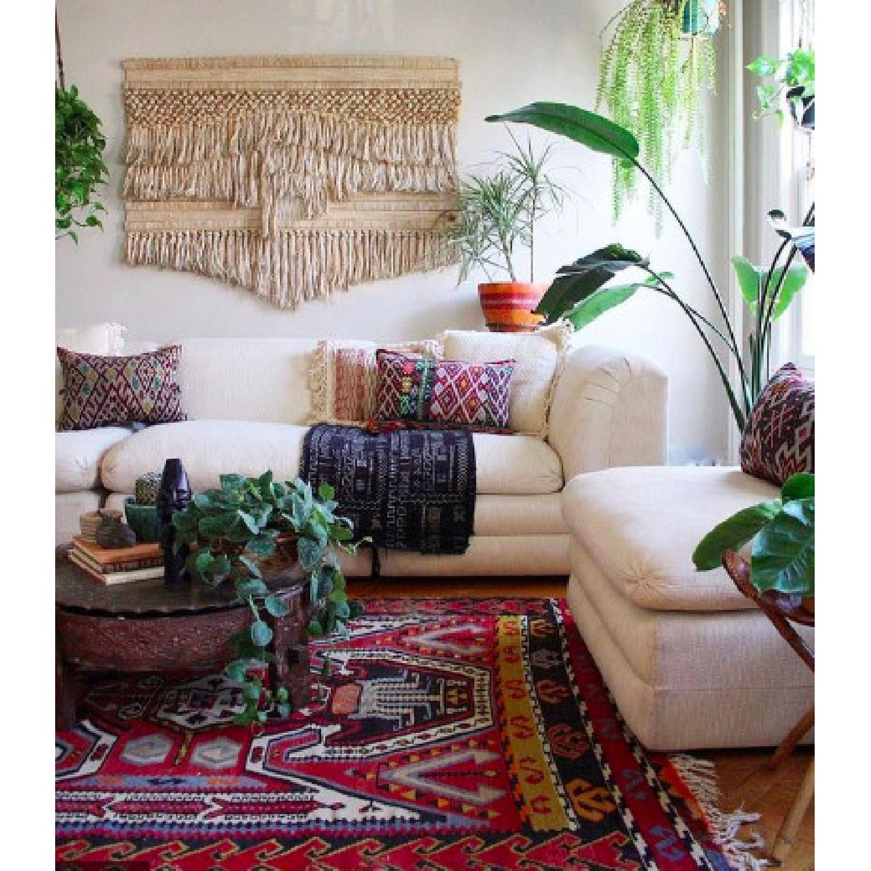 Handmade Oushak Turkish Anatolian Area Rug - image-4