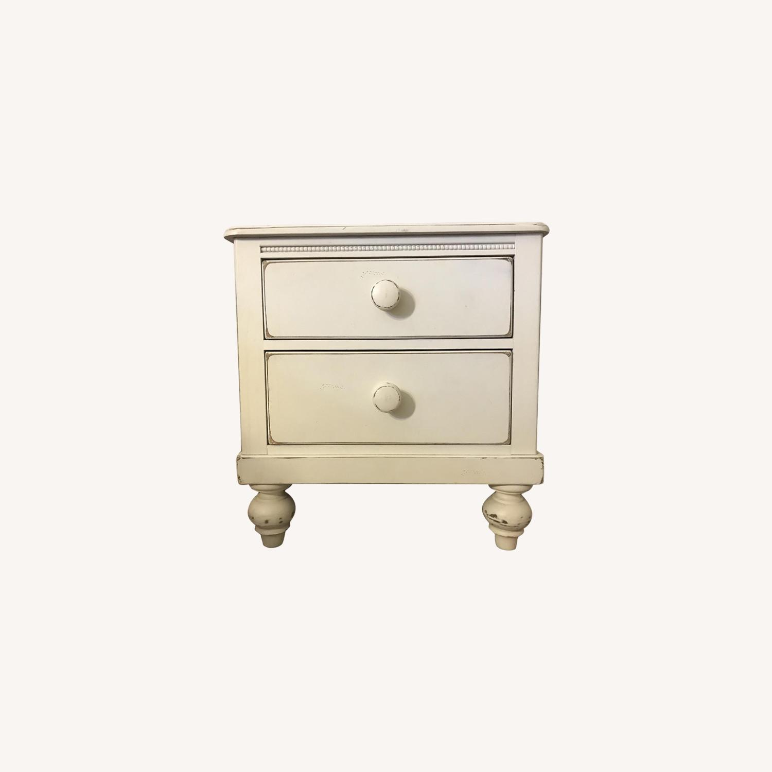 Lexington Distressed White Solid Wood 2 Drawer Nightstand - image-0