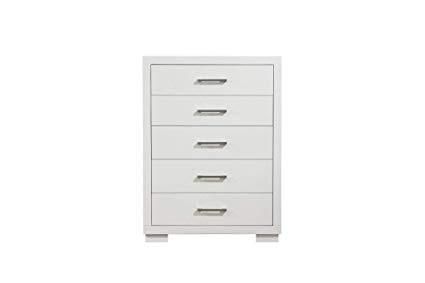 Coaster White 5-Drawer Jessica Dresser
