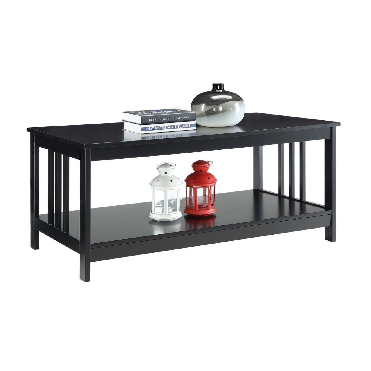 Porch & Den Miro Mission Black Coffee Table - image-0