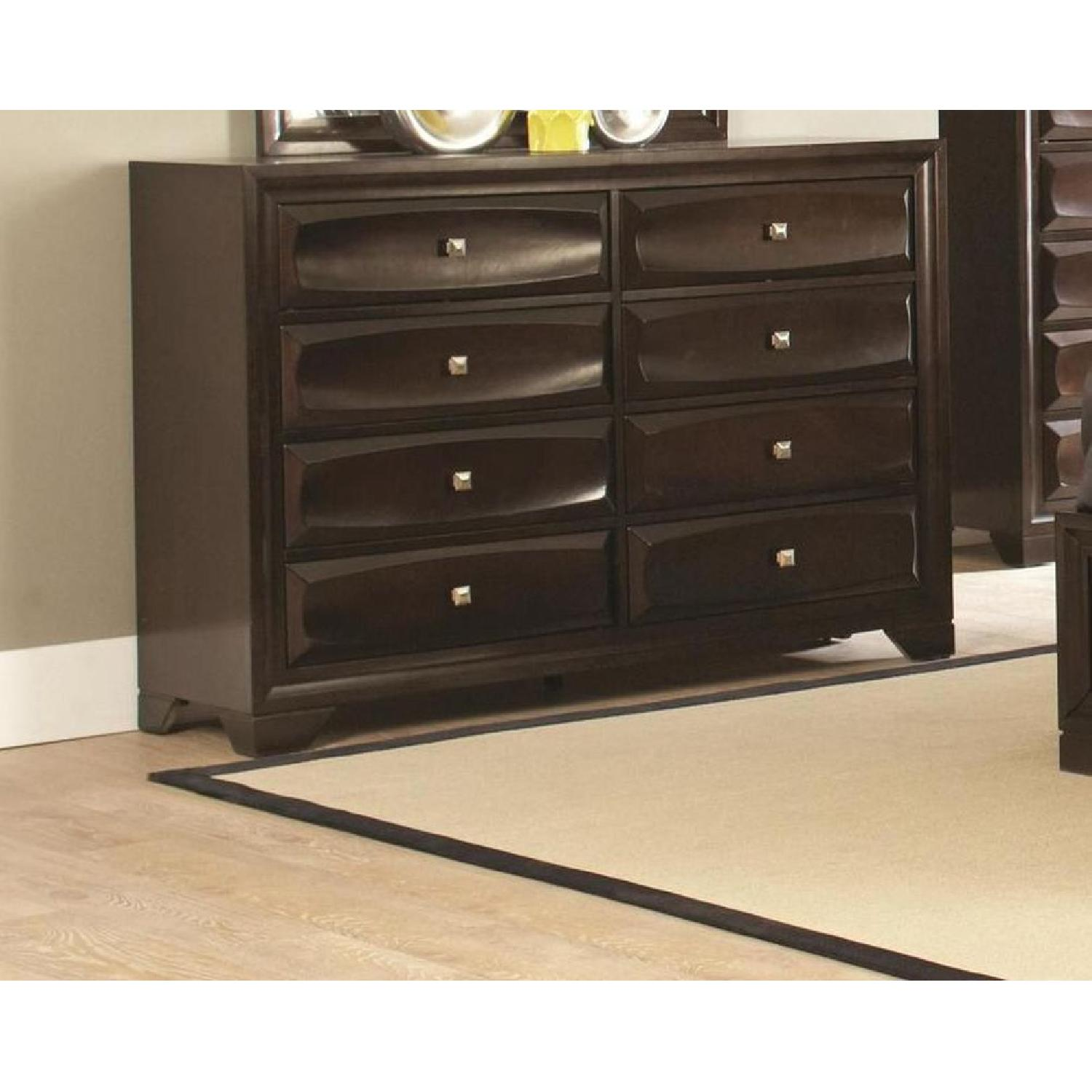 Dresser in Cappuccino w/ Drawer Front Design - image-2