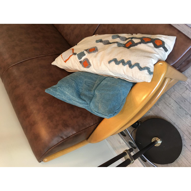 Heywood Wakefield Brown Leather Sofa - image-3