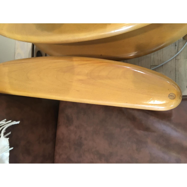 Heywood Wakefield Brown Leather Sofa - image-4