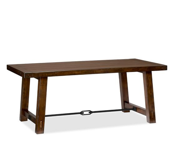 Pottery Barn Mahogany Benchwright Dining Table w/ 2 Benches