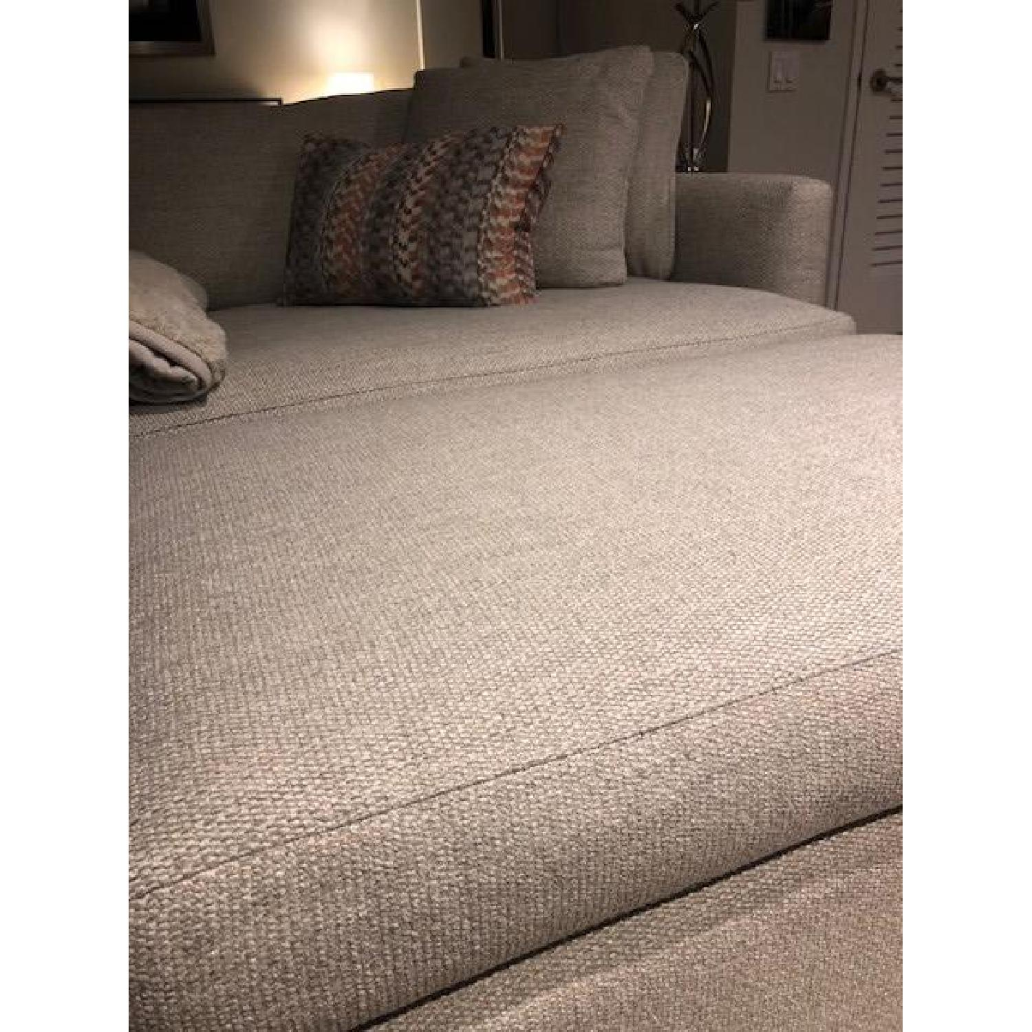 Crate & Barrel Lounge II Ottoman and a Half w/ Casters - image-3